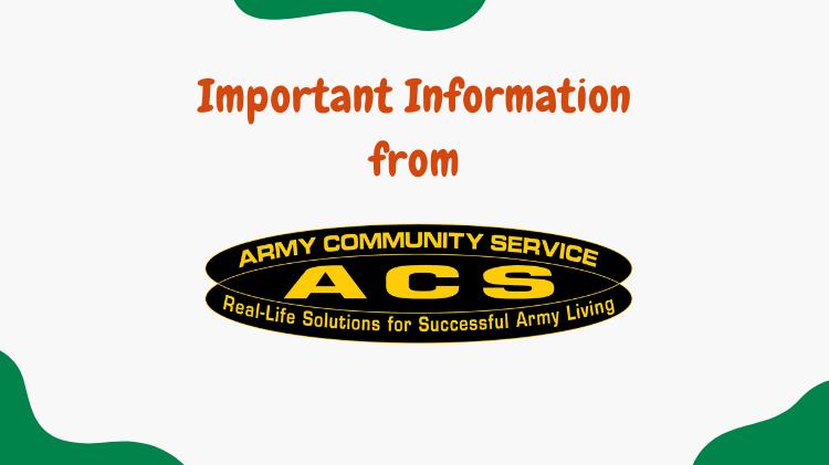 ACS-Important Information